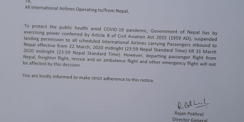 Urgent Notice from Civil Aviation Authority of Nepal!